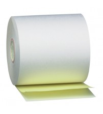 """3"""" x 100' 2 part White/Canary (50 rolls)"""